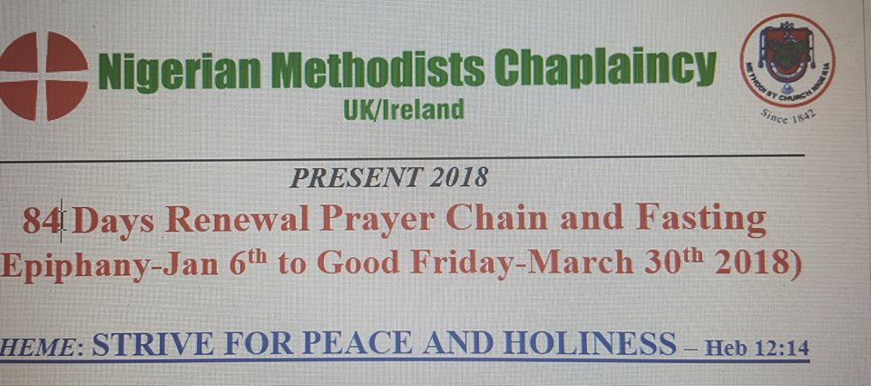 84 Days Renewal Prayer Chain and Fasting (Epiphany-Jan 6th to Good Friday-March 30th 2018)