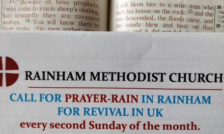 MAY PRAYER-RAIN IN RAINHAM