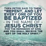 BAPTISM: MOVEMENT TOWARDS THE NEW WORLD