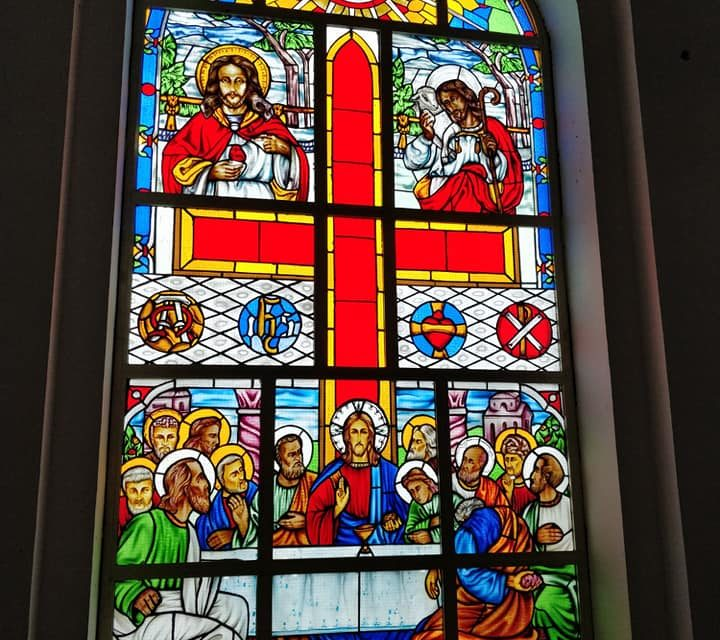 Wesley Chapel, Lekki, Lagos Stained Glass Brings Bible to Life