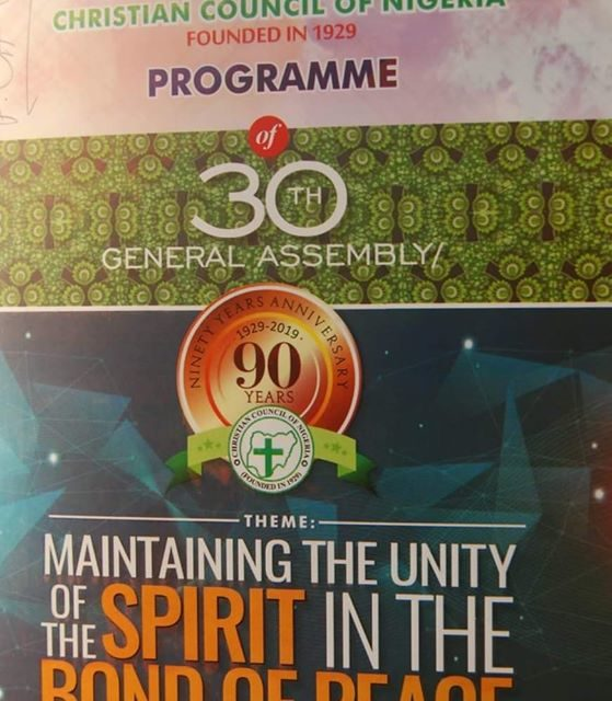 CHRISTIAN COUNCIL OF NIGERIA (CCN) @90: Towards a Single Theological-Voice.